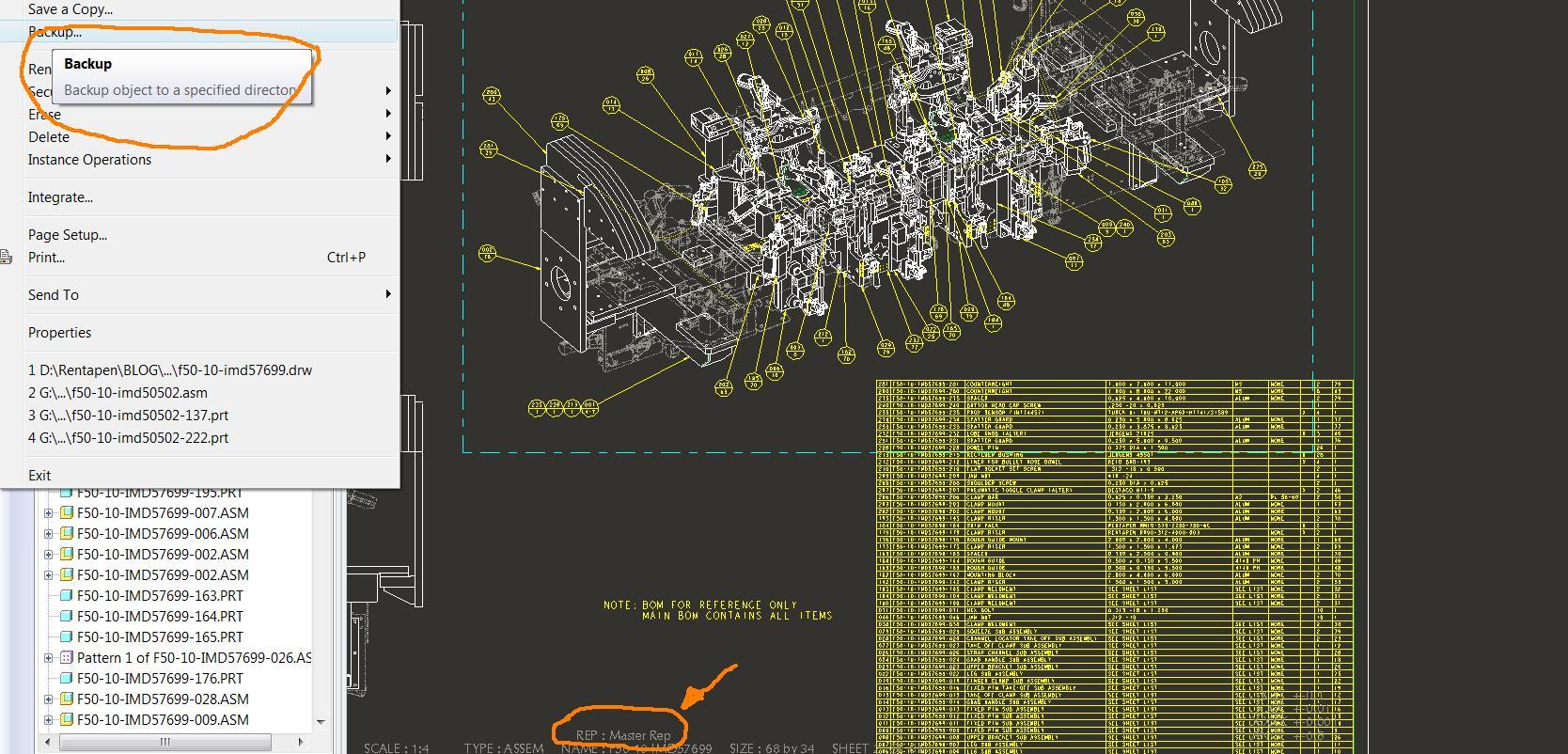pro e drafting machine